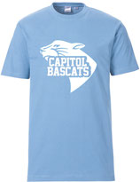 T-Shirt Skyblue mit Bascats Logo