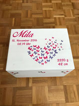 Erinnerungsbox gross mit Schmetterlingsherz