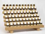 Présentoir avec 66 huiles essentielles de base