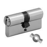 WILKA Doppelzylinder System TH6 mit Freilauf FZG und Doppelschließbart für Biffar-Türen | Codierte Einzelschließung mit Sicherungskarte
