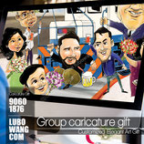 Group Bulk Caricature for family or corporate