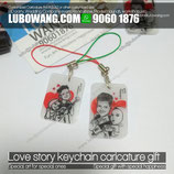 High quality Customized souvenir caricature keychain gift