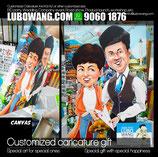 "Postcard 6x4"" Anniversary #Caricature gift"