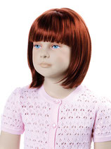Mädchen Minni Perücke, kupferrot