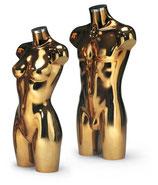 Torso Metallic Farbe, goldfarben M/W