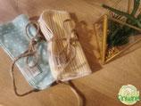5er-Set Reinigungstücher aus Bio-Flannel (kbA)