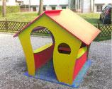 Spielhaus CASANDA 3farbig rot-blau-gelb