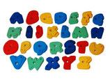 Kunstharz-Klettergriffe Alphabet