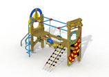 Kleinkind-Spielgerät Paradies mit Edelstahl-Rutschstangen