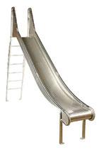 Volledelstahl-Rutsche mit Leiter