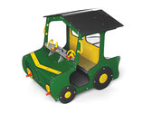 Spielhaus Traktor grün