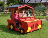 Spielhaus Traktor rot