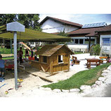 Spielhaus mit Boden Kiefer oder Robinie