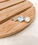 Elegant Marble Square Hair Clip