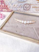 Simple White Pearl Hair Clip