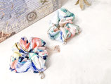 Colourful Design Scrunchy With Pearl