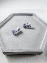 Handmade Cute Purple Ribbon Earrings