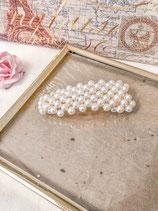 White Pearl Big Hair Clip