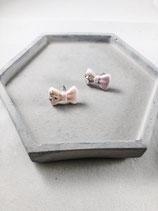 Handmade Cute Pink Ribbon Earrings