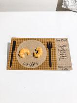 Handmade Croissant Earrings