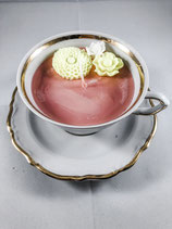 Handmade Rose Flavour Teacup Candle