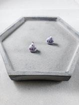 Handmade Cute Purple Cupcake Earrings