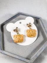 Handmade Cute Cookie Bear Earrings