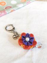 Tsumami  Flower Keychain