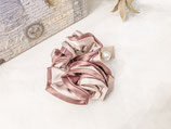 Elegant Bi Colour  Scrunchy With Pearl