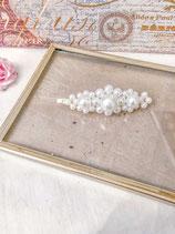 Elegant White Pearl Hair Clip