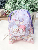 Little Twin Stars Drawstring  Bag Mini