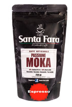 Passione Moka  DEK (macinatura per espresso)  4x250 Gr.