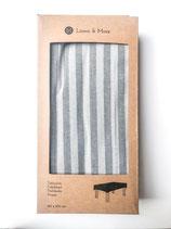 Tischdecke Linen and More Dunkelgrau Stripe