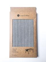 Tischläufer Linen and More Dunkelgrau Stripe