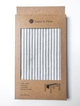 Tischläufer Linen and More Hellgrau Stripe