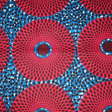 SAFRIKA Tragetuch  casual circles blue/red