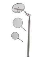 Teleskopspiegel - ausziehbar - runder Spiege l - 3- er Set