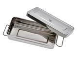 Aufbewahrungsbox mit Deckel - aus Edelstahl