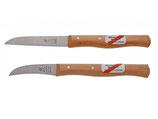 Windmühle - Küchenmesser aus Solinger Carbonstahl 2er Sparpaket - gebogene Klinge - gerade Klinge