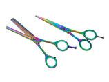 """Haarscheren - Friseurscheren Set -  Modellierschere - Multicolour- 5,5 """""""