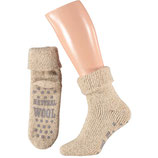 Heren wol home slippersok MEDIUM BEIGE MELANGE