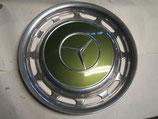 Mercedes Radkappe Chrom 14 Zoll zypressengrün met. 876 W123 W107 R107 W114 W116 W126