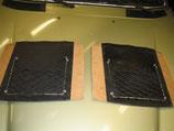 Mercedes Satz Gepäcknetze Vordersitze Leder Velours schwarz W123 T Modell TE TD W123 W116 W114 W115 W108 W109