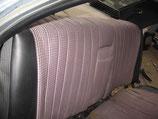 Mercedes Rücksitz Bank Lehne Oberteil Stoff schwarz W116