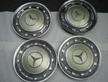 Mercedes Radkappen Satz Chrom 14 Zoll silberdistel 881 W123 W107 R107 W114 W116 W126