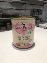 Landfleisch mit Geflügel und Lachsfilet