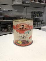 Landfleisch mit Rind und Reis 800 g