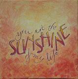 Kalligrafie Sunshine (Bild groß: hellorange)