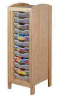 Meuble de rangement à casiers 1 colonne