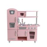 """Cuisine enfants en bois """"vintage rose"""""""
